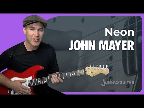 Neon - John Mayer (Songs Guitar Lesson ST-328) How to play
