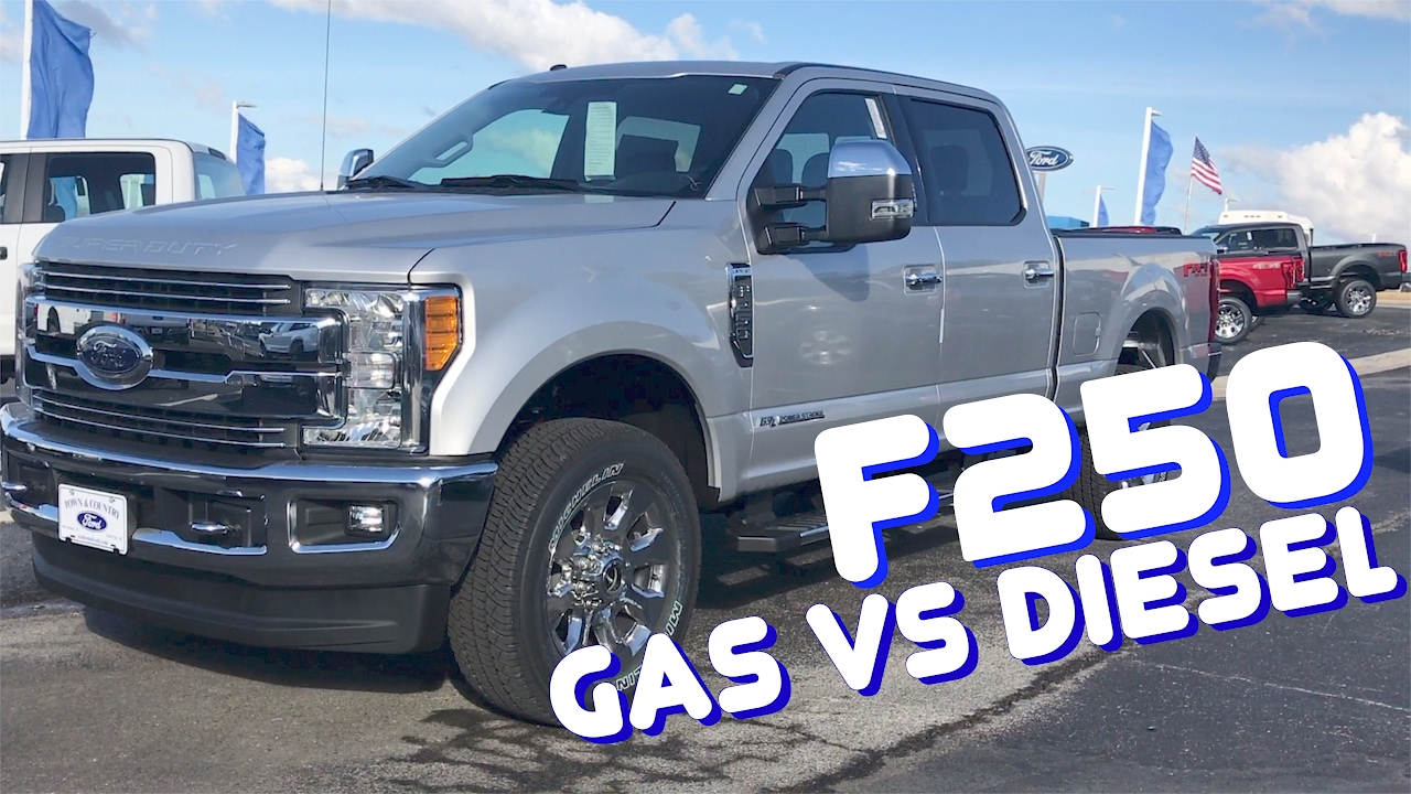 2017 Ford F250 Diesel Mpg >> 2017 Ford F250 Gas Vs Diesel Which One Do You Really Need Youtube