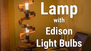 Lamp with Edison Light Bulbs | Светильник с лампами Едисона