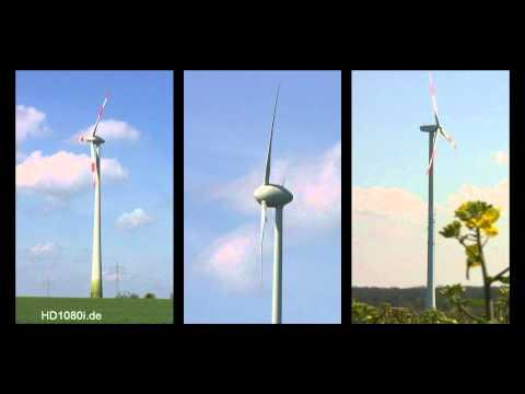 Enercon wind energy turbines in action