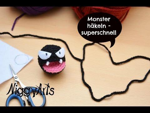 NiggyArts - Monster häkeln - superschnell - YouTube