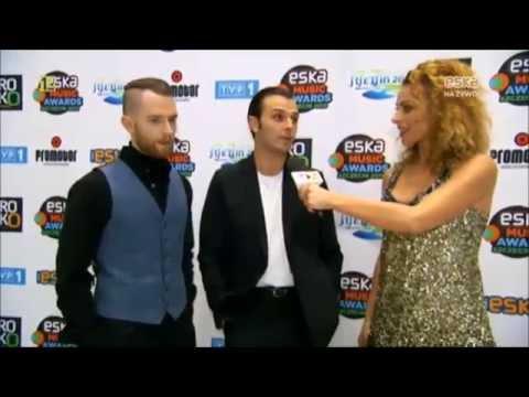Hurts at the 2015 ESKA Music Awards Red Carpet -  29.08.2015