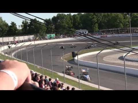 Sunset Speedway Outlaw Midgets Heat 1 2016 09 03