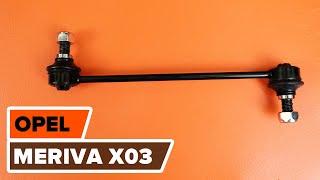Montaż Łącznik stabilizatora przednie prawy OPEL MERIVA: instrukcje wideo