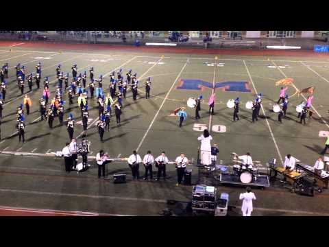 2013 Bunnell High School Marching Band and Color Guard at Brien McMahon - September 21, 2013