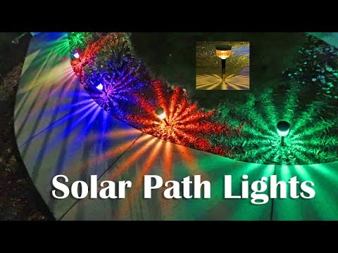 Solar Path Lights 💥 GELOO Color Changing Outdoor Pathway Lights Review DISCOUNT CODE👈