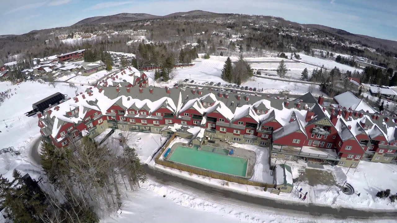 aerial mount snow: grand summit resort hotel (january 2015) - youtube