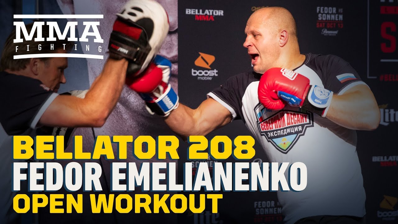 Fedor Emelianenko Bellator 208 Workout Highlights - MMA Fighting