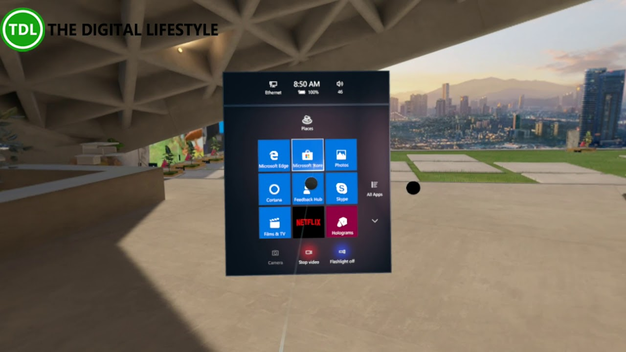 Windows Mixed Reality RS5 Changes – Flashlight and new menus