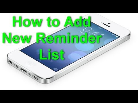 iOS 7 - How to Add New Reminder List