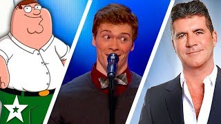 Daniel Ferguson Impressionist takes on Simon Cowell on America