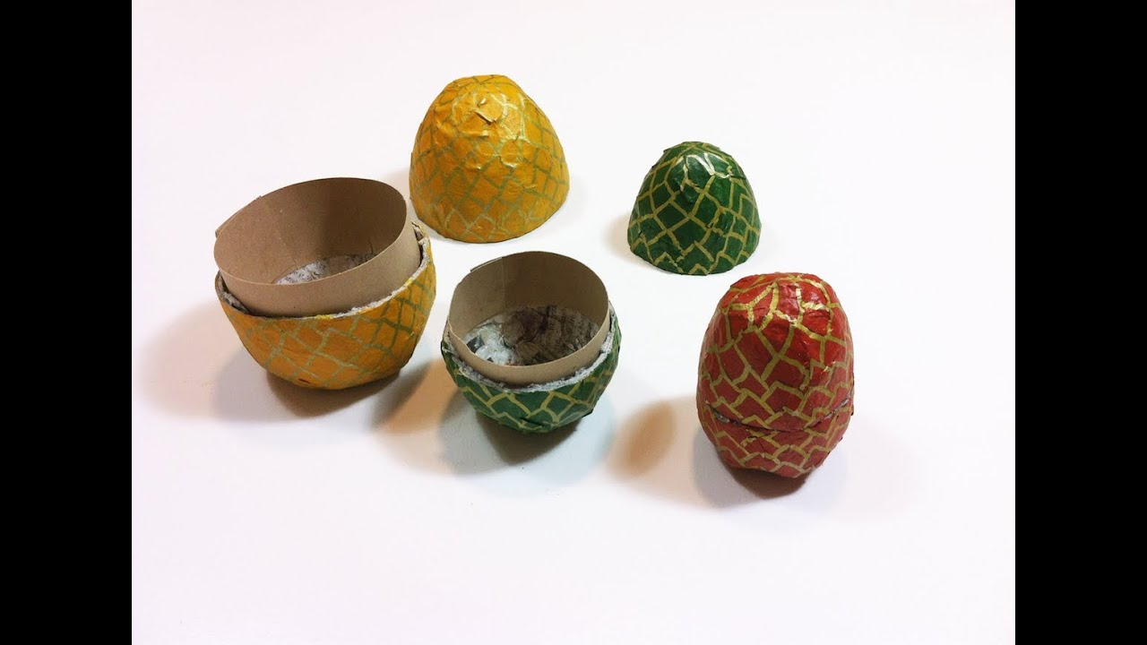 How To Make Home Made Paper Mache Egg Boxes Diy Tutorial
