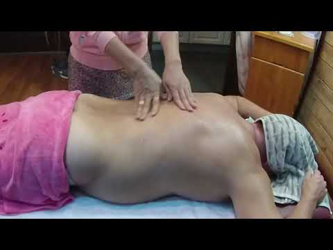 Massage Therapy - Back and Arms Massage Technique.
