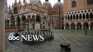 Venice underwater as historically high tides continue to rise l ABC News