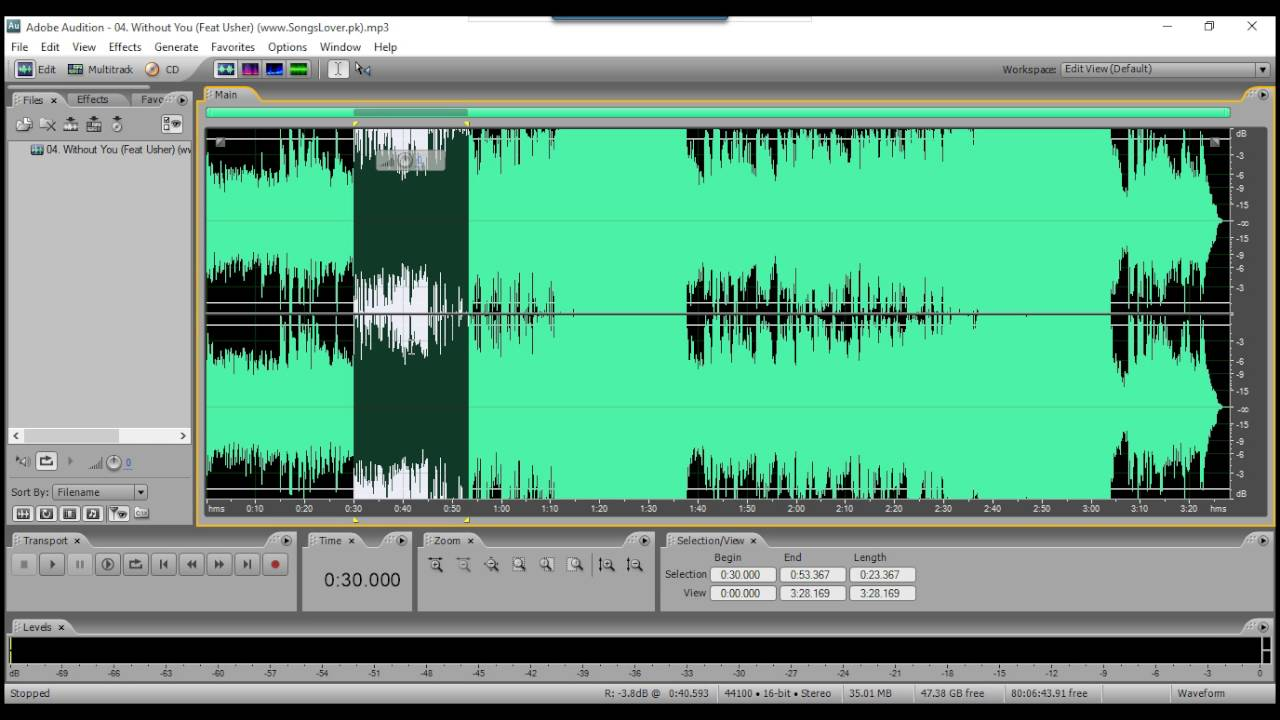 How to Remove Vocal From a Song Using Adobe Audition