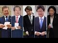 '한 표' 행사한 후보들…긴장 속 투표율 주시 / 연합뉴스TV (YonhapnewsTV)