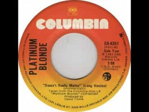 Platinum Blonde - Doesn't Really Matter (1983)