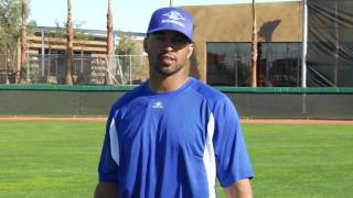 Outfield drills with Jason Bay, Matt Kemp, Rocco Baldelli and Andre Ethier