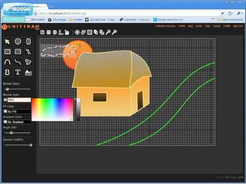Basic Demo - Chittram, online vector image editor