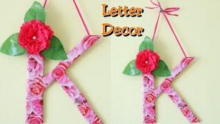 DIY Letter decor ideas/Room decor ideas with cardboard/K letter/Cardboard crafts/Best out of waste
