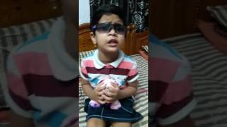 A small boy sing in bichagadu movie affection of mother song