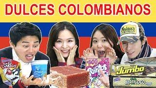 COREANOS PROBANDO DULCES COLOMBIANOS POR 1RA VEZ