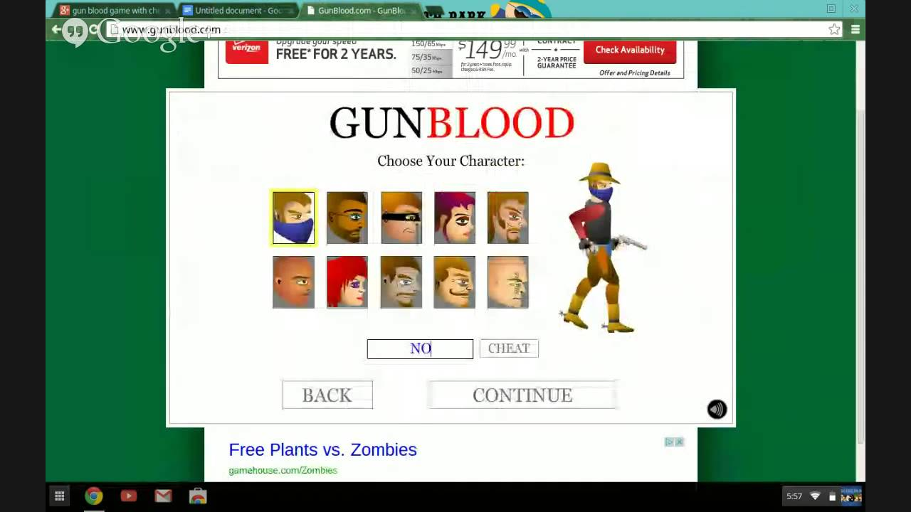 gunblood unblocked games gun blood game with cheats - YouTube