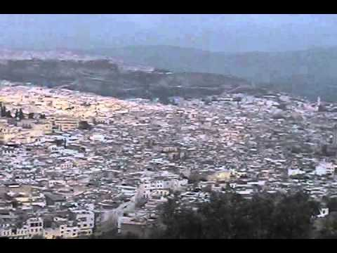 An overlook of the old city of Fes, Morocco
