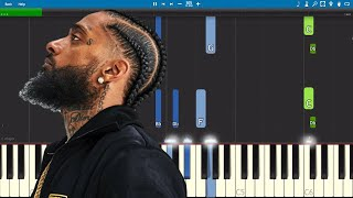 Nipsey Hussle - Racks In The Middle - Piano Tutorial