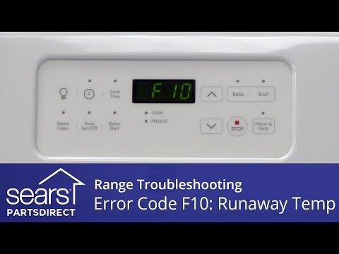 Range Error Code F10: Troubleshooting Runaway Oven Temperature