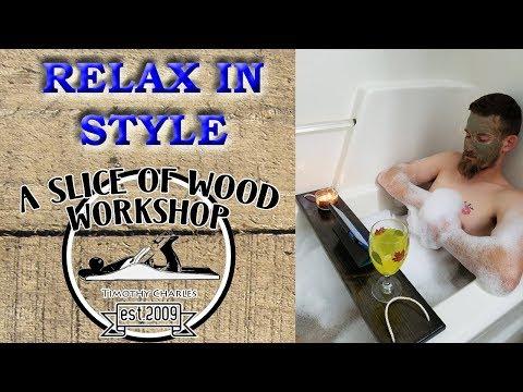 Easy DIY Bath Tub Tray