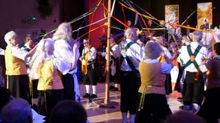 Trigg Morris and Saffron Maids dancing the Maypole (badly)