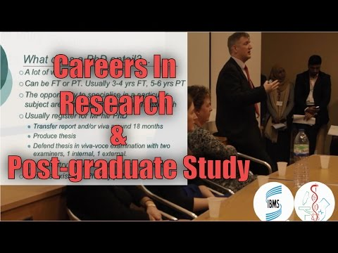 Careers In Research & Post-graduate Oppotunities | Dr Ian Locke | Natural Sciences Careers Expo 2015