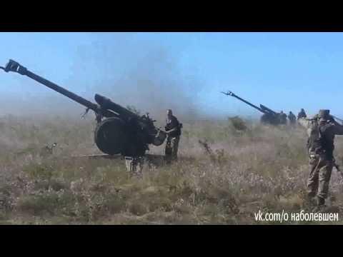 HOT!! Russian Terrorist's Artillery Shelling At The Ukrainian Territory/New York Times