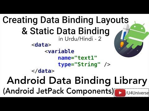Android Data Binding-2 | Creating Binding Layout & Binding Static Data | U4Universe