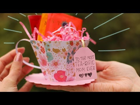 3D Paper Tea Cup Tutorial for Mother's Day 🌷 Mothers Day Crafts | DIY Gift Box