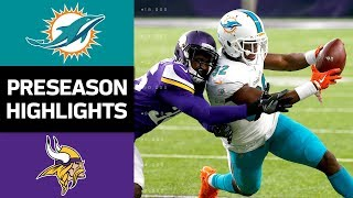 Dolphins vs. Vikings | NFL Preseason Week 4 Game Highlights