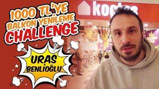 1000 TL'ye Balkon Yenileme Challenge| Uras Benlioğlu | Dekorasyon Challenge