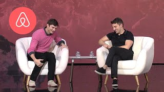 Ashton Kutcher + Brian Chesky: Strategies for Entrepreneurs | Airbnb Open LA | Airbnb