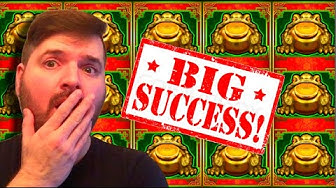 The Frogs Multiply Each Other?! MOST AMAZING WIN On MONEY FROG Slot Machine @ Max Bet