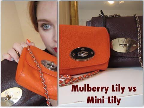 Mulberry  Lily vs Mini Lily    jenniferthemakeupartist - YouTube ab2f62d1542e5
