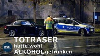 WELT THEMA:Polizei -  Raserunfall in München von Dashcam gefilmt