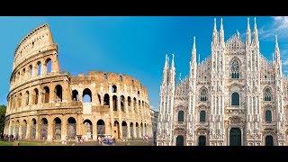 Milão Itália pontos turisticos imagens aéreas