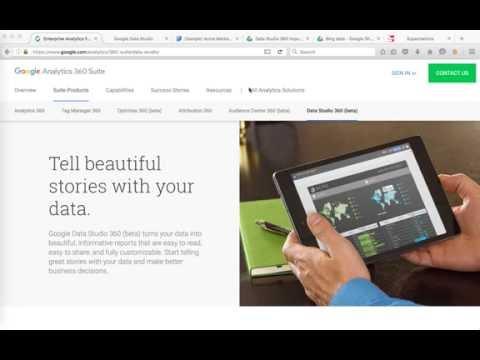Google Data Studio: How to get Facebook, Bing, Twitter & others