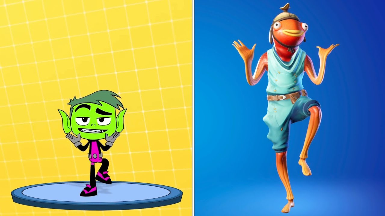 Fortnite Dance Battle: Fishstick vs Cartoon Network