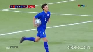 Clip hai bàn thắng của hai cầu thủ U22 Thái Lan vào lưới U22 Việt Nam.