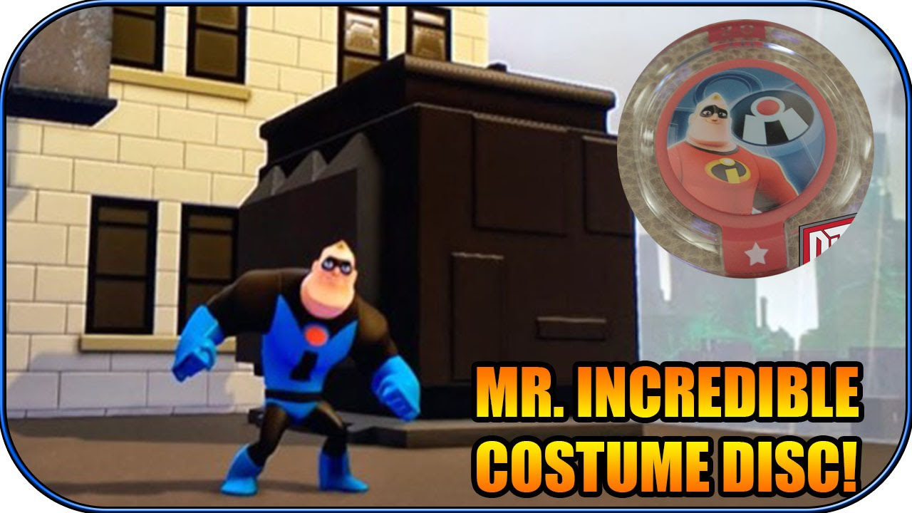 Disney Infinity Throwback Mr Incredible Costume Disc