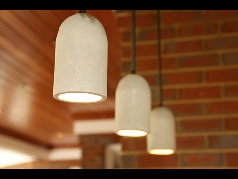 Diy concrete pendant lights youtube diy concrete pendant lights mozeypictures Image collections