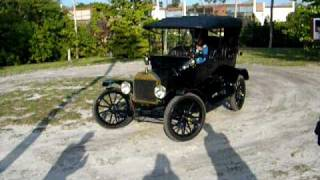 1915 model t ford wide track 9 year old driving