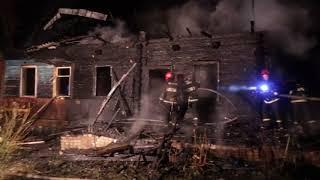 01.05.2018 пожар дома в аг. Кадино  Могилевского района